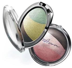 VOV Тени 3-х цветные Aura Glam Eyes